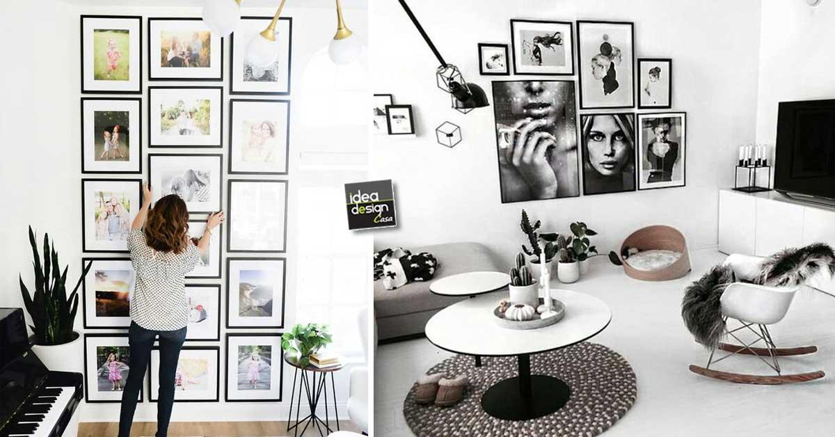 Una parete di quadri per decorare casa in modo creativo for Quadri parete