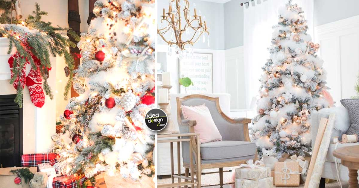Alberi Di Natale Bellissimi.Un Albero Di Natale Innevato Eccone 15 Bellissimi Per Ispirarvi