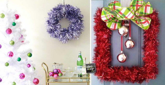 Addobbi natalizi fai da te realizzati con i festoni 17 - Addobbi natalizi da giardino ...