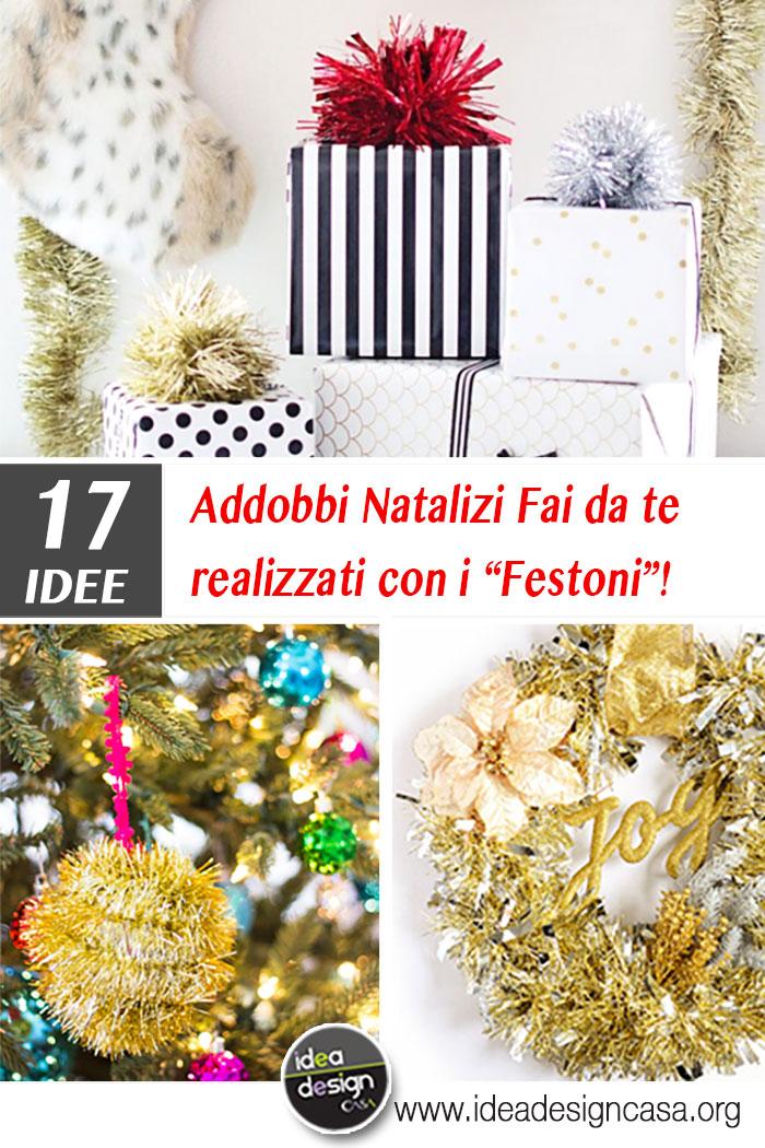 Addobbi natalizi fai da te realizzati con i festoni 17 - Addobbi casa fai da te ...