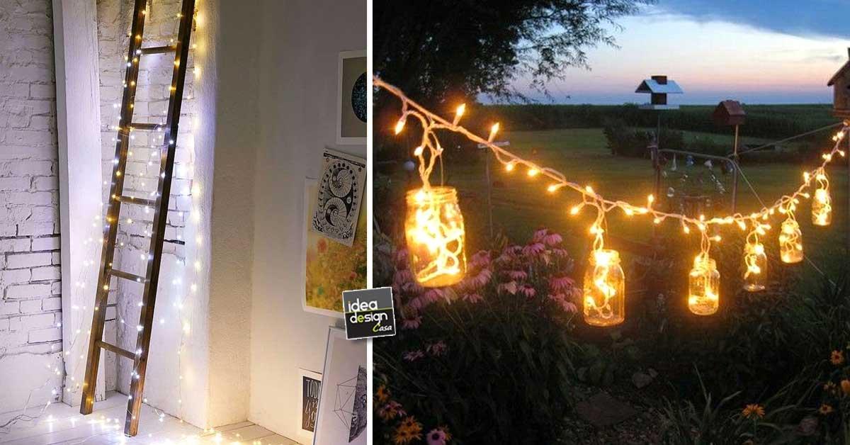Decorare casa con le lucette di natale in modo originale - Guirlande lumineuse salon ...