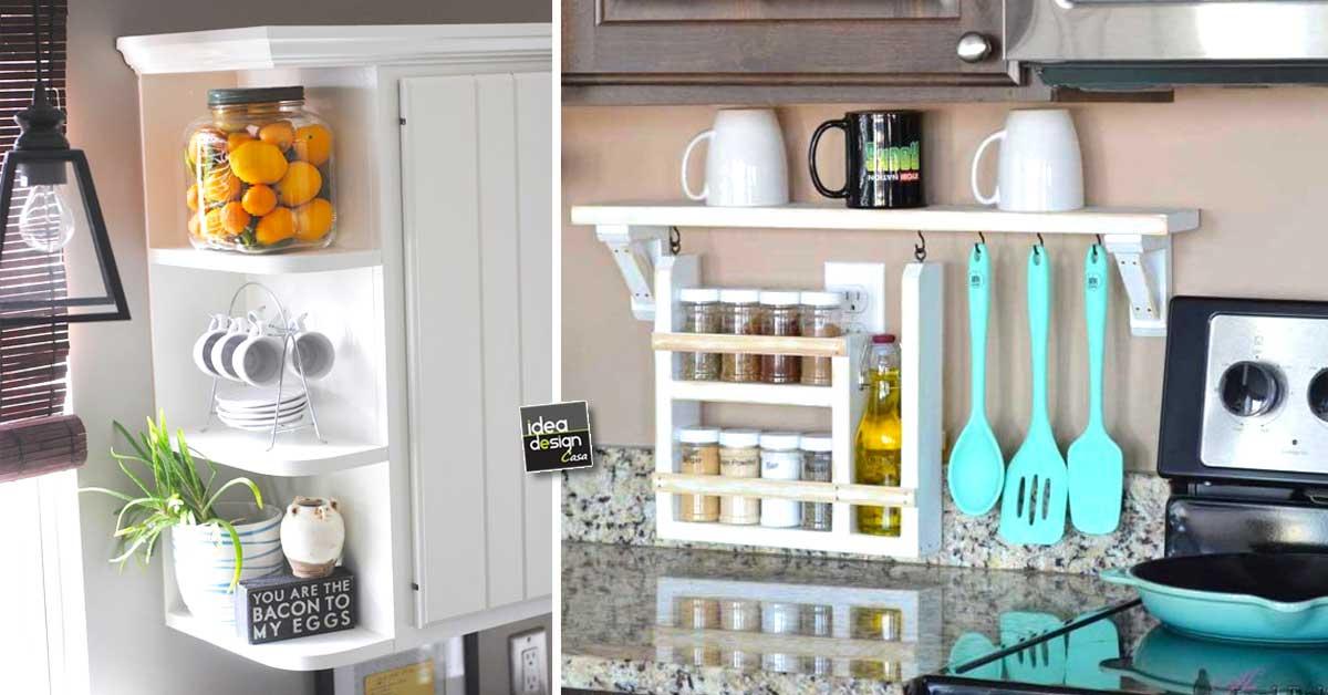Ripiani intelligenti per la cucina ecco 15 idee per for Diversi design per la casa