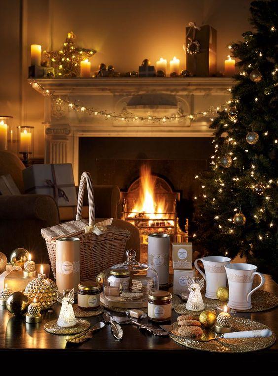 Atmosfera di Natale con le Candele