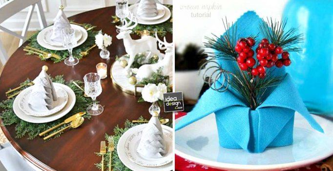 Decorare la tavola di natale in modo creativo con i - La tavola di natale decorazioni ...