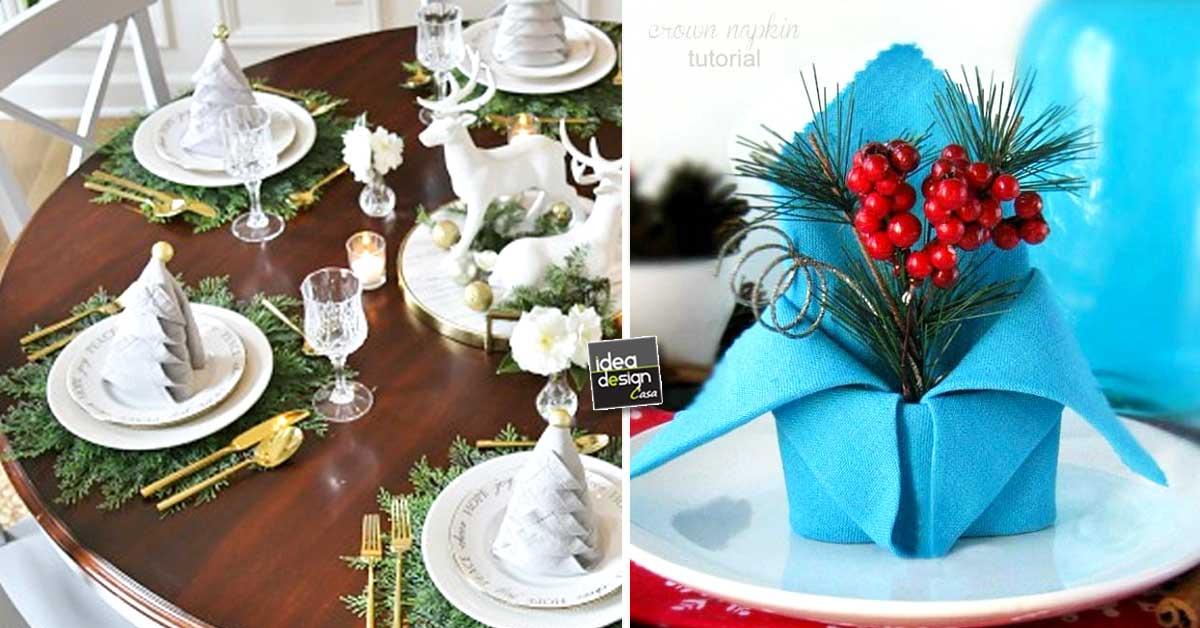 Decorare la tavola di natale in modo creativo con i - Decorare la cucina per natale ...