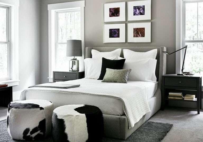 Camera da letto grigia e bianca ecco 15 idee a cui for Camere da letto bianche