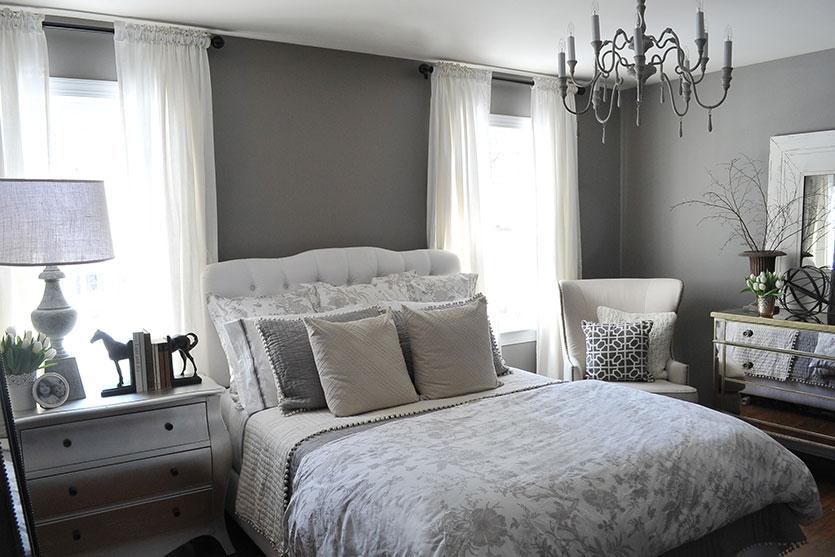 Camera da letto grigia e bianca ecco 15 idee a cui - Idea camera da letto ...