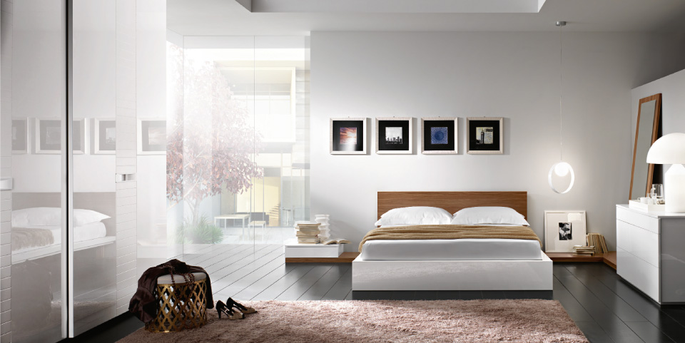 Camera da letto bianca e legno ispiratevi con queste 15 idee incantevoli - Camera da letto nera e bianca ...
