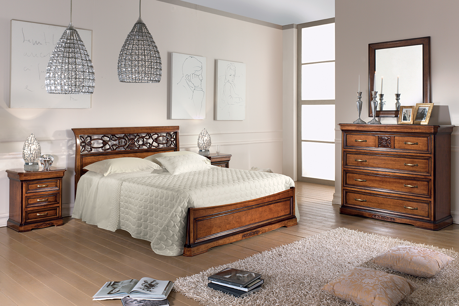 Camera da letto bianca e legno ispiratevi con queste 15 - Camera da letto contemporanea bianca ...