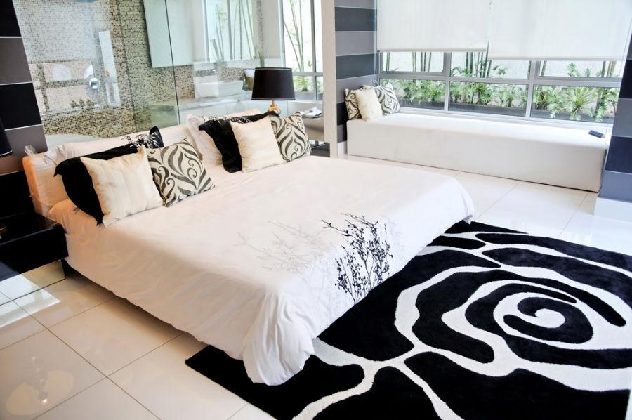 Chambre coucher noire et blanche voici 15 id es pour - Camera bianca e nera ...
