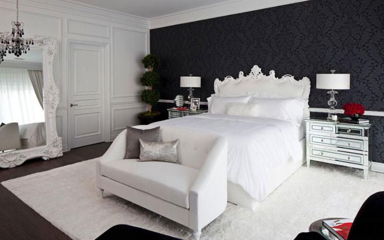 Camera da letto bianca e nera! Scoprite queste 15 proposte e osate!