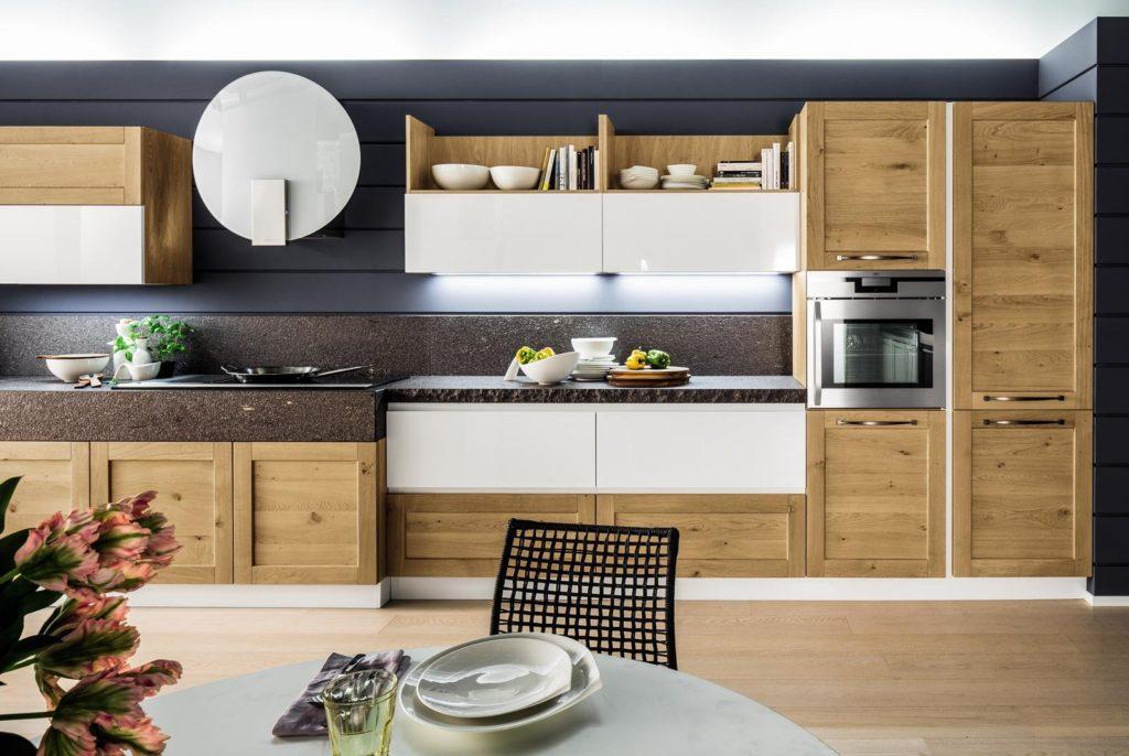 Cucina bianca e rovere 15 idee luminose per ispirarvi - Cucina bianca e noce ...