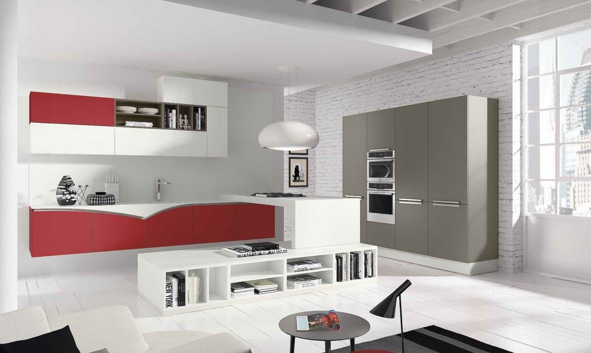 Cucina rossa e grigia 15 idee accattivanti che vi ispireranno - Cucina bianca e rossa ...