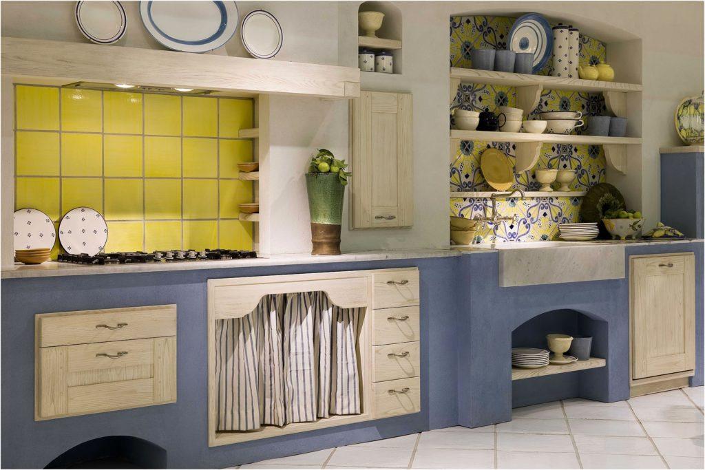 Cucina shabby chic ecco 15 idee per arredarla con gusto - Cucina in muratura bianca ...