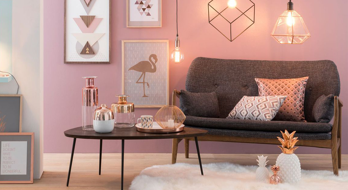 Room Decor Bedroom Rose Gold And White