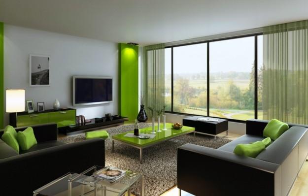 Parete Soggiorno Verde.Soggiorno Grigio E Verde Ecco 15 Esempi Per Farvi Un Idea