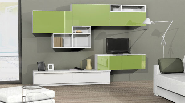 Soggiorno grigio e verde ecco 15 esempi per farvi un idea for Divano blu colore pareti