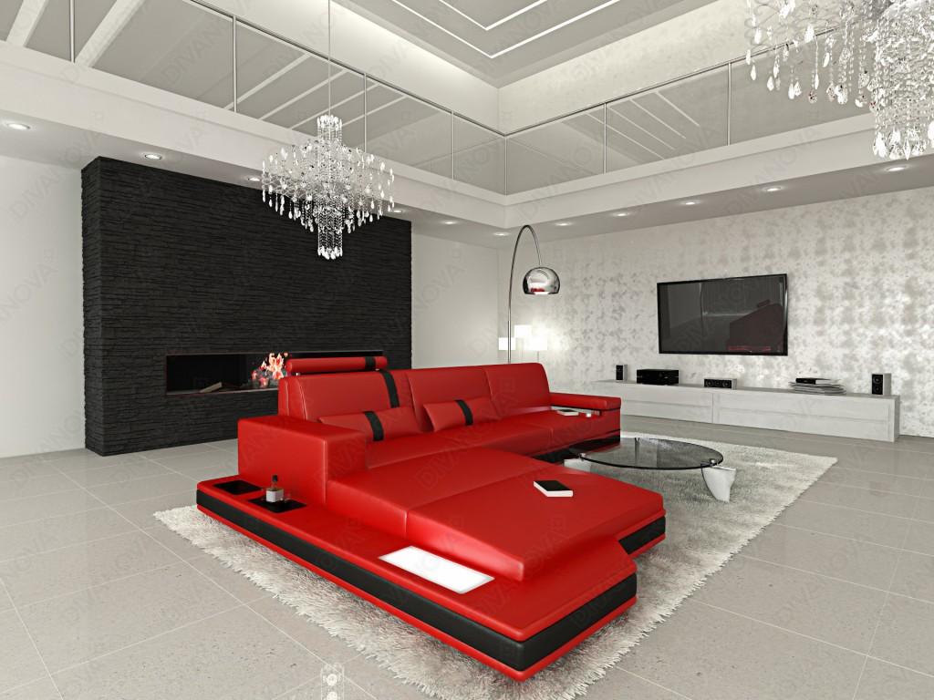Divano Rosso E Nero : Soggiorno rosso e nero idee per arredare con personalità
