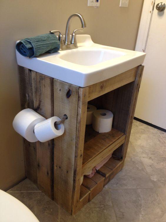 Decorare il bagno con i pallet ecco 15 bellissime idee - Decorare il bagno ...