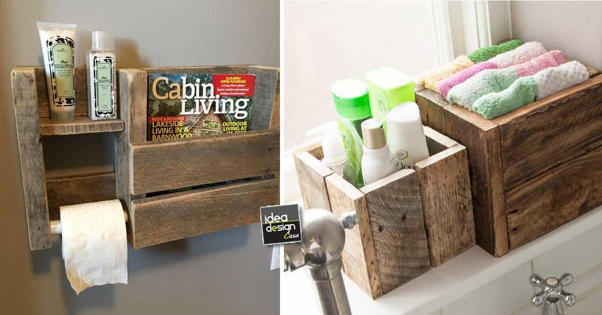 Pensili Bagno Fai Da Te : Decorare il bagno con i pallet ecco bellissime idee fai da te