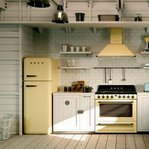 Stile retr in cucina ecco 20 idee da cui trarre ispirazione - Cucine con frigo smeg ...