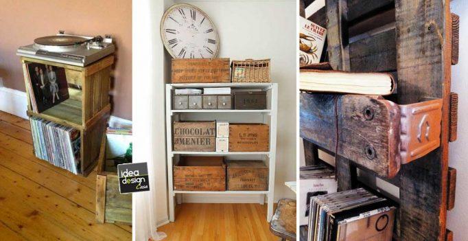 decorazioni vintage fai da te con le cassette di legno