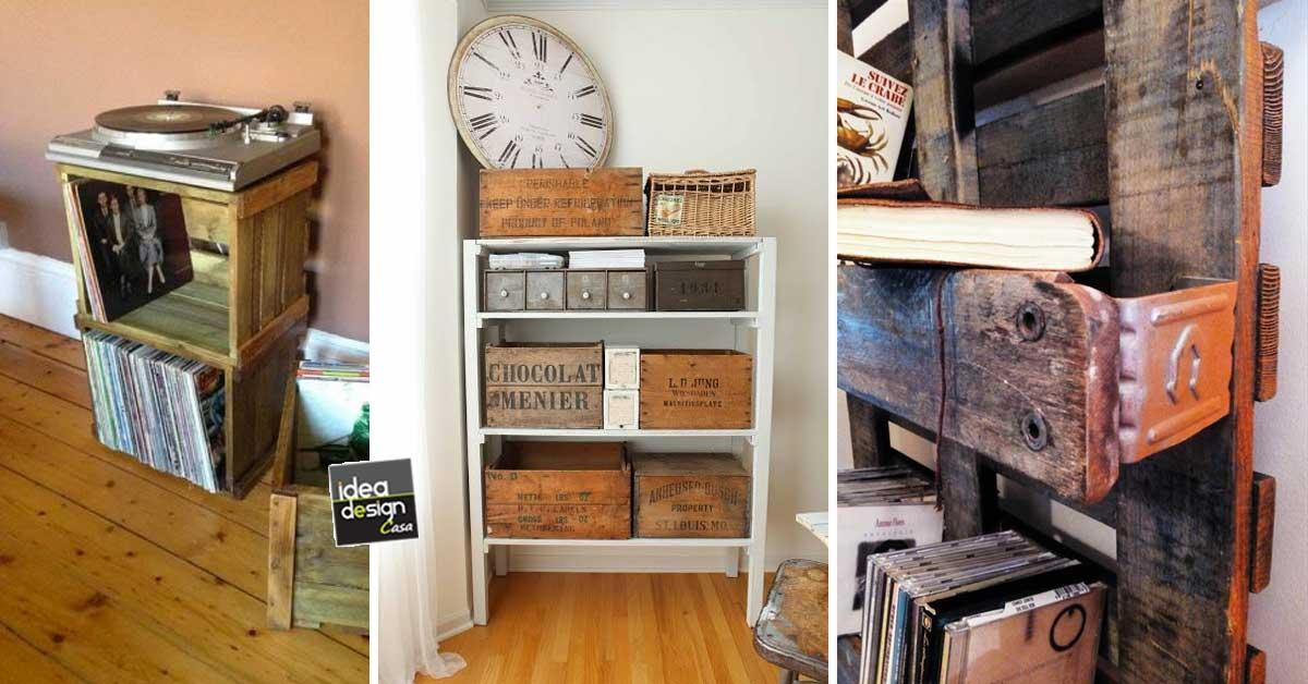 Decorazioni vintage fai da te con le cassette di legno for Idee design fai da te