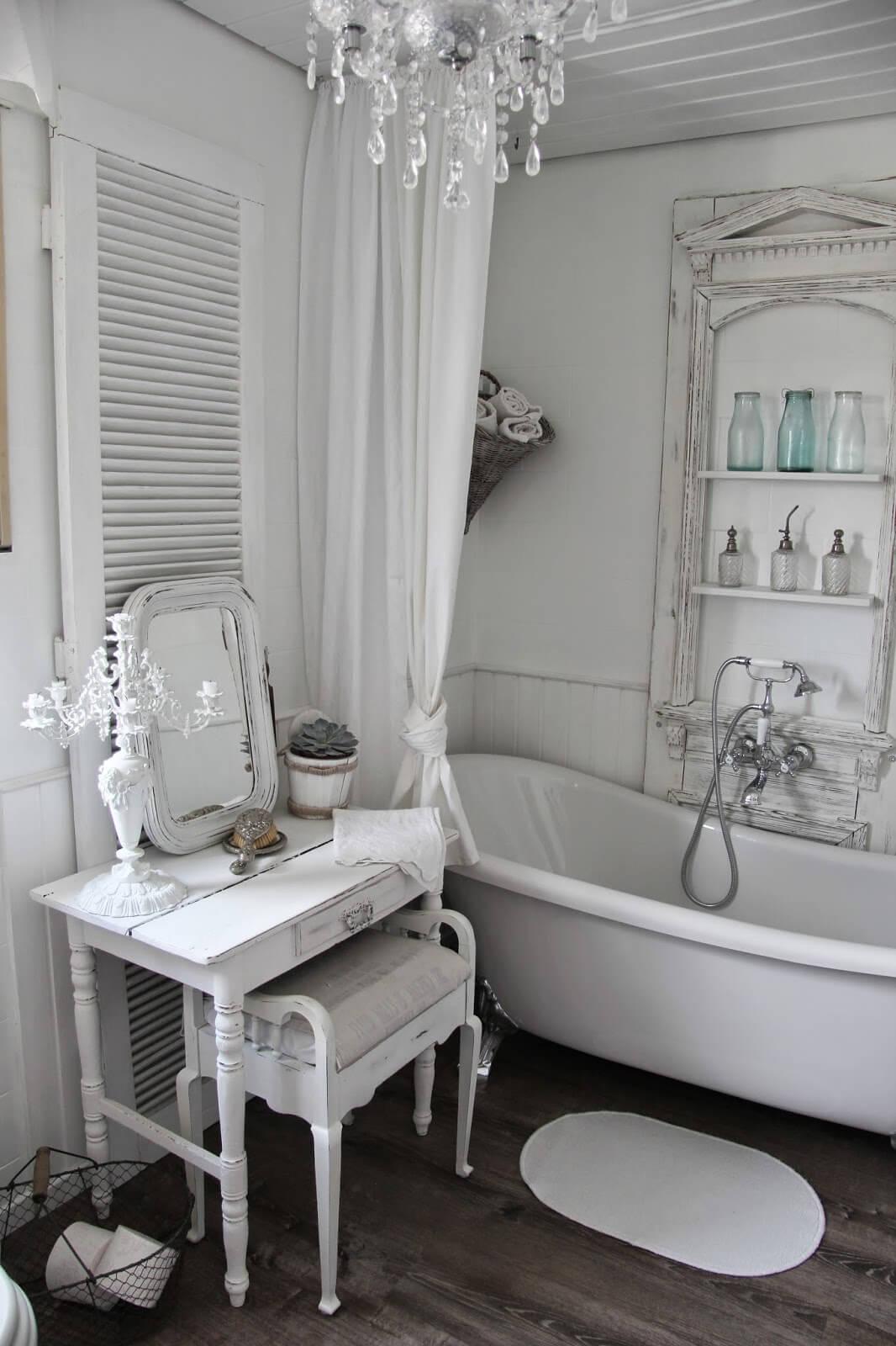Bagno in stile shabby chic ecco 20 bellissime idee da vedere - Shabby chic interiors bagno ...