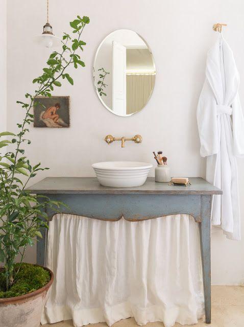 bagno in stile shabby chic ecco 20 bellissime idee da vedere. Black Bedroom Furniture Sets. Home Design Ideas