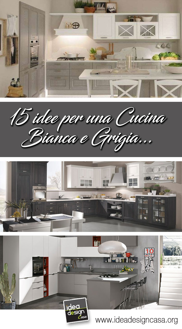 Idee Design Cucina : Cucina bianca e grigia ispiratevi con questi esempi