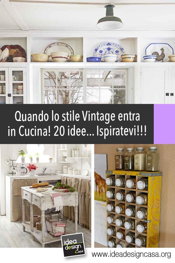 Una cucina stile Vintage! Date un'occhiata a queste 20 bellissime idee...