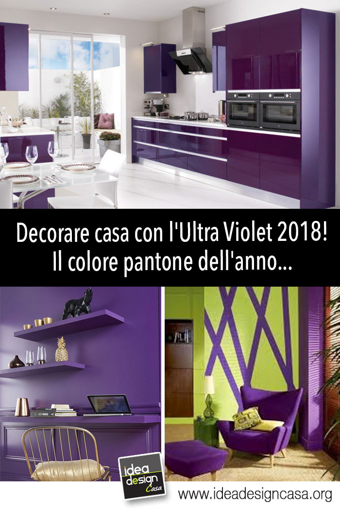 Decorare casa con l 39 ultra violet 2018 il colore pantone - Idee per decorare casa ...