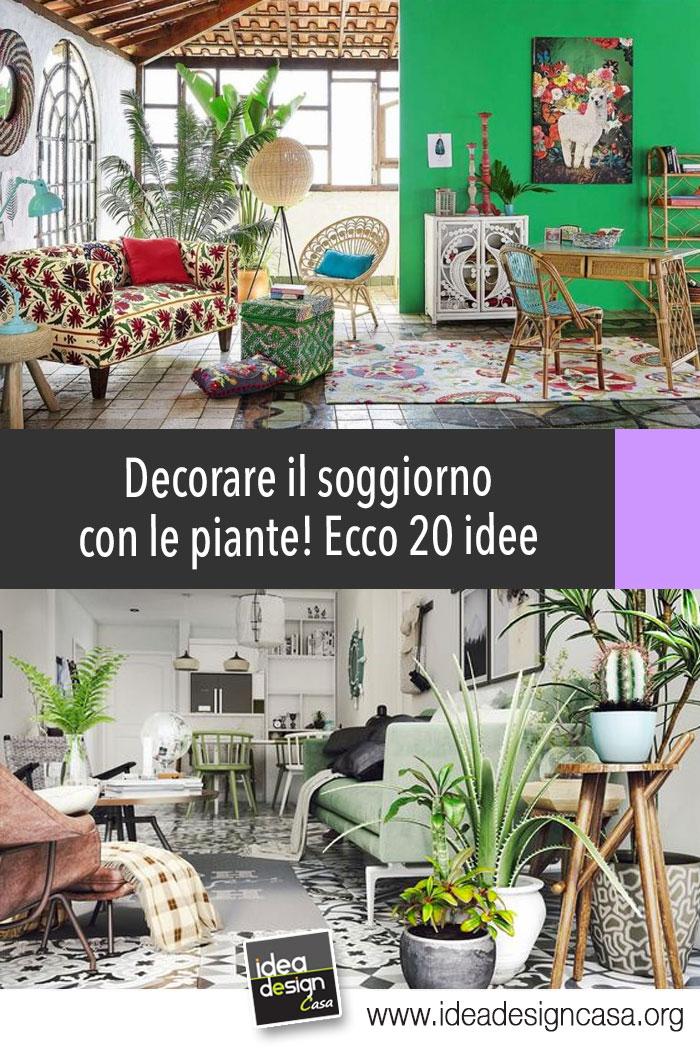 Decorare il soggiorno con le piante ecco 20 idee a cui - Idee per il soggiorno ...