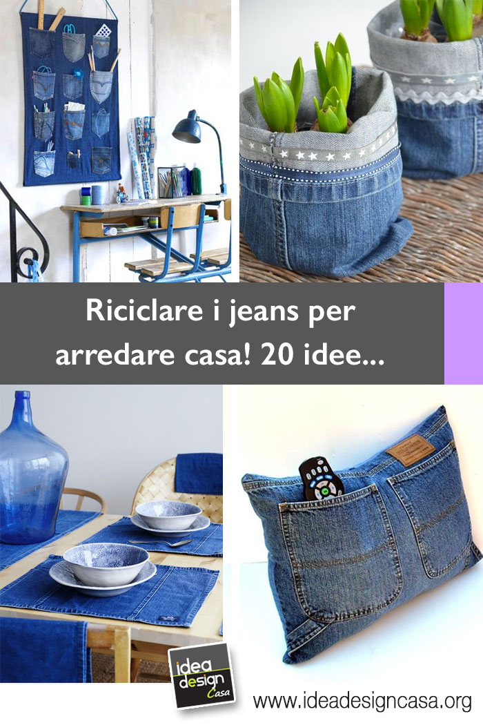 Recycle jeans for decorating home 20 creative ideas for Riciclare per arredare