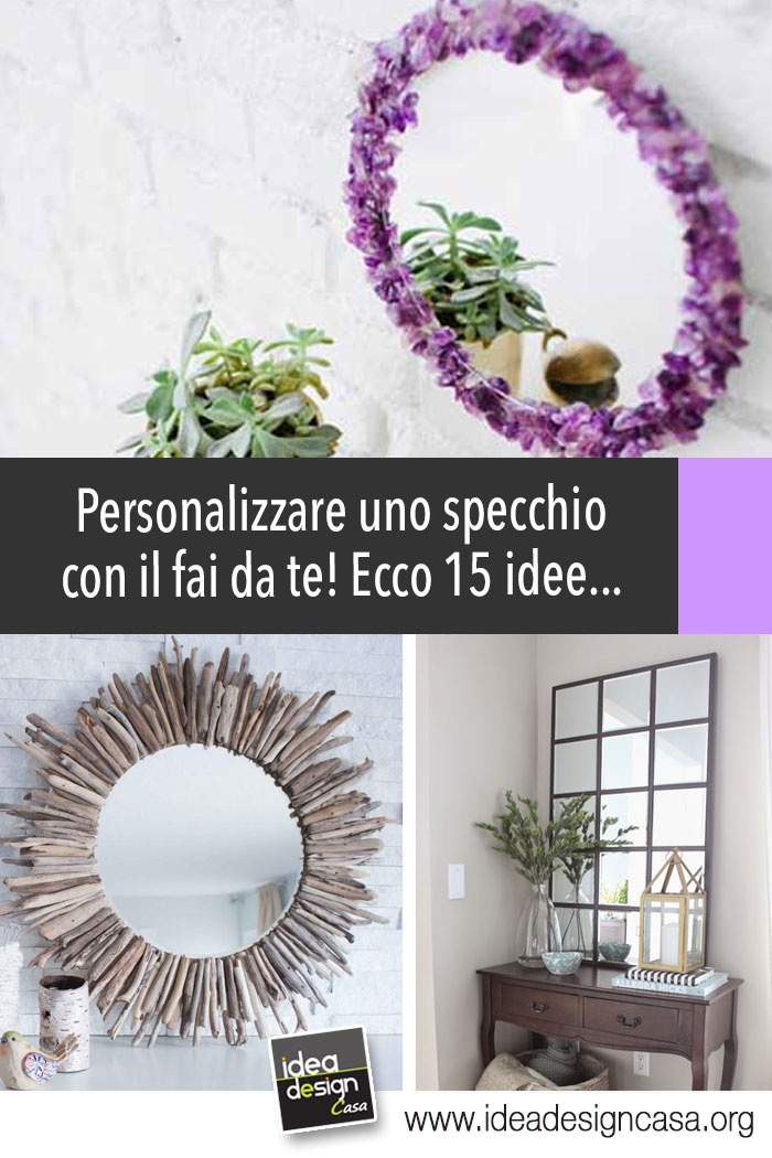 Personalizzare uno specchio con il fai da te! Ecco 15 idee a cui ...