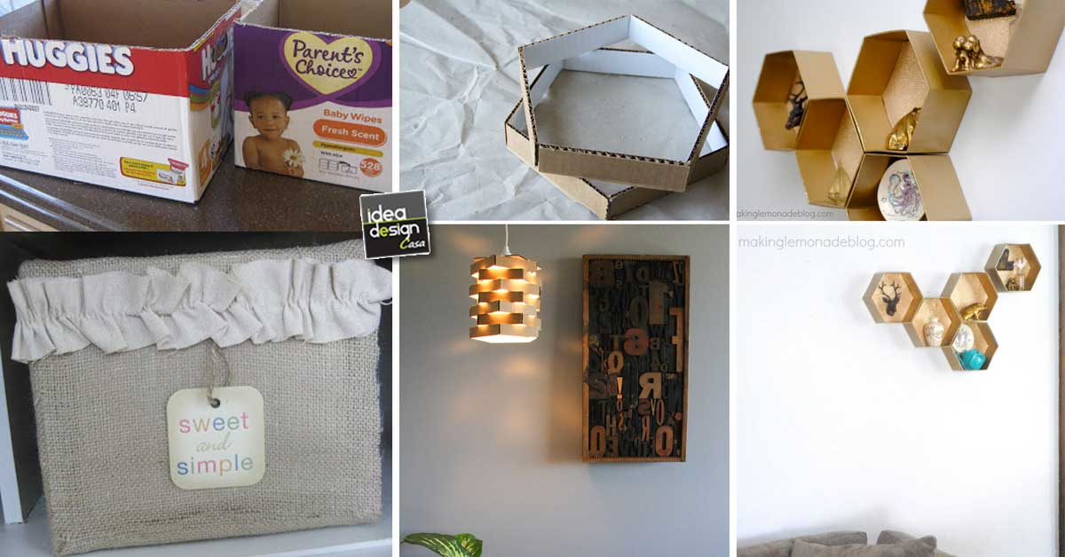 Riciclare il cartone per decorare casa ecco 15 idee per - Riciclo creativo casa ...