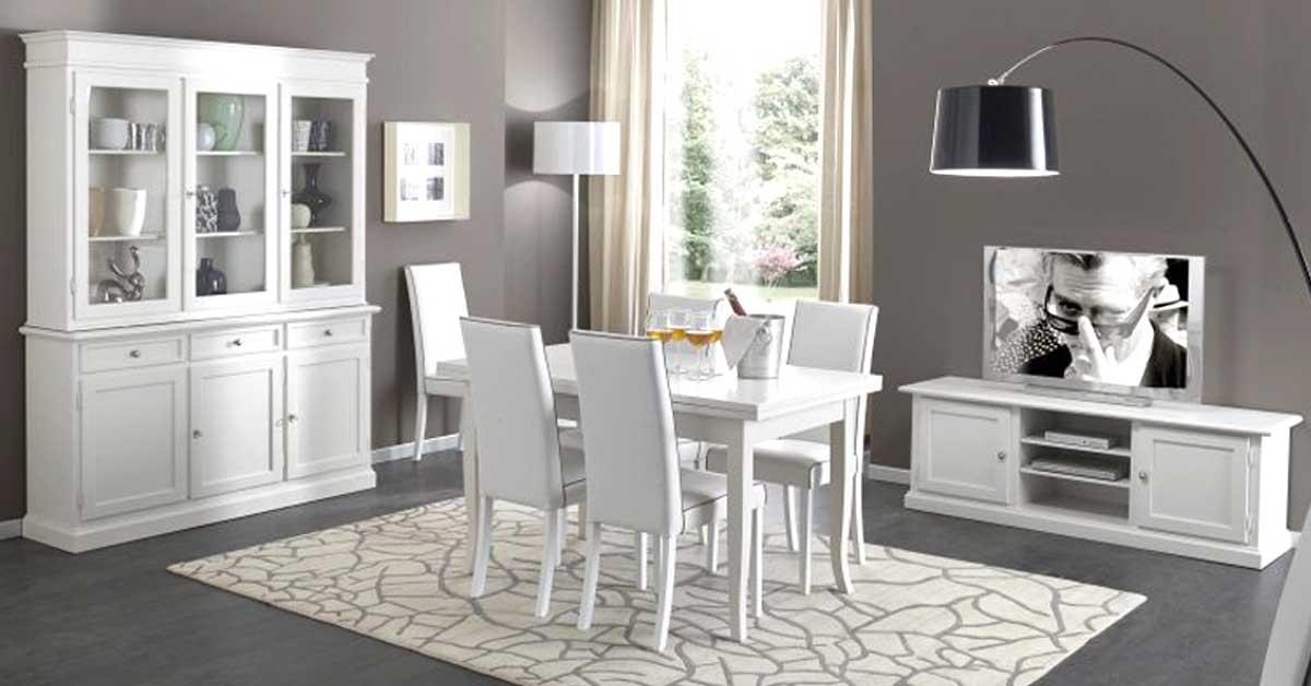 Soggiorno bianco e grigio ecco 15 idee ispiratevi con for Arredamento classico bianco