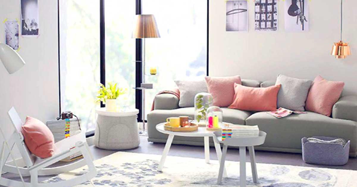 Soggiorno grigio e rosa: 15 idee per abbinare con gusto!