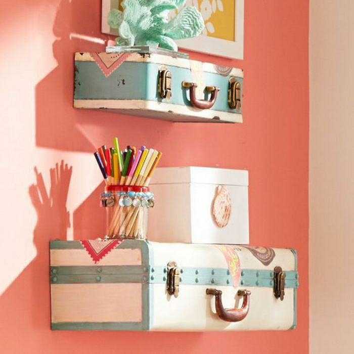 High Quality Old Suitcases Become Shelves Nice Ideas