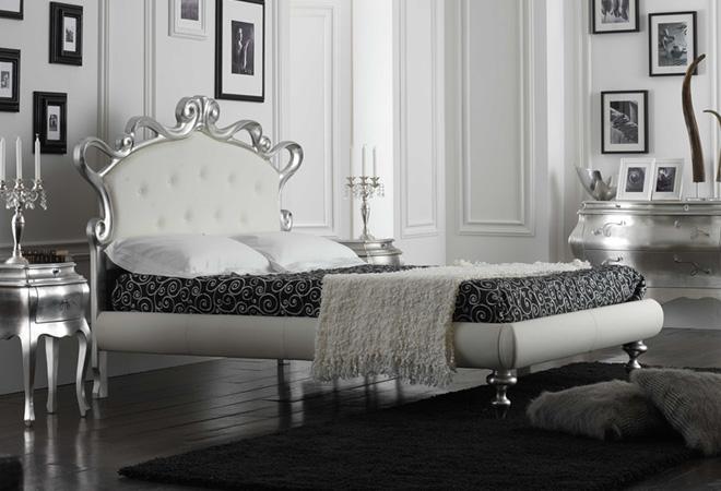 Stanze Da Letto Moderne Bianche : Camera da letto bianca e argento ecco idee che vi stupiranno