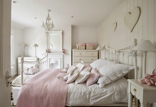 Shabby chic bedroom: 15 romantic ideas ... be inspired!
