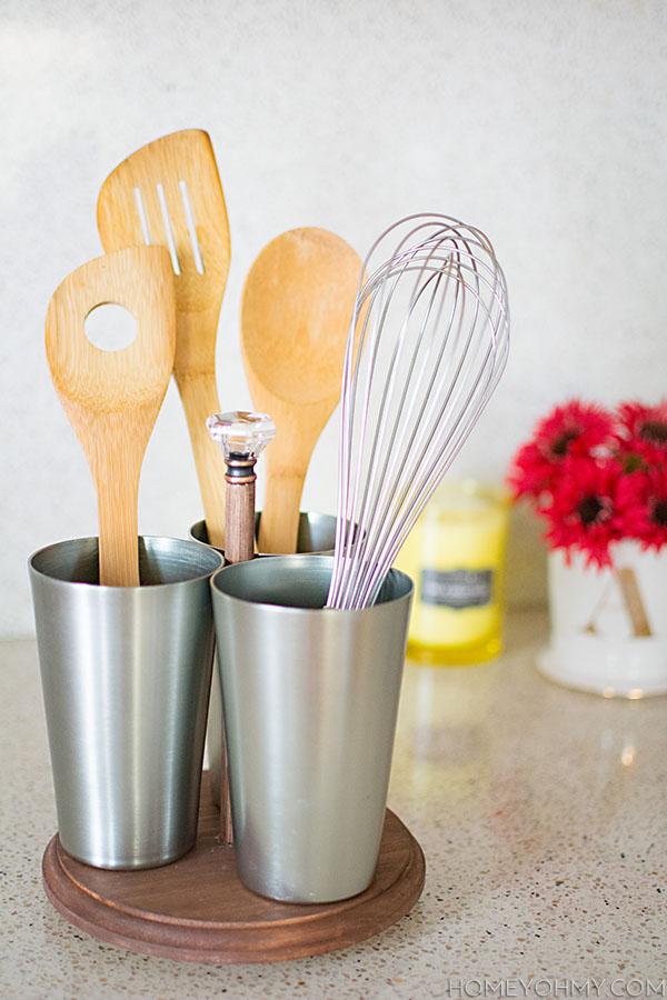 Portautensili fai da te per la cucina ecco 15 idee per for Decorazioni fai da te per la cucina