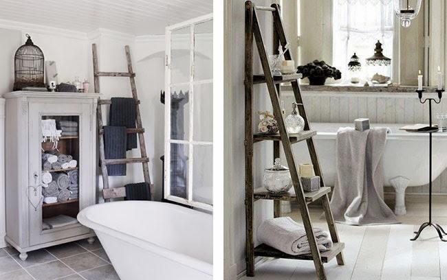 Arredare casa con il riciclo creativo 6 belle idee idea per ispirarvi - Scala per bagno ...