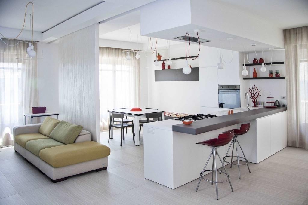 Soggiorno Con Cucina A Vista. Free Mq Piano Terra Con Vista ...