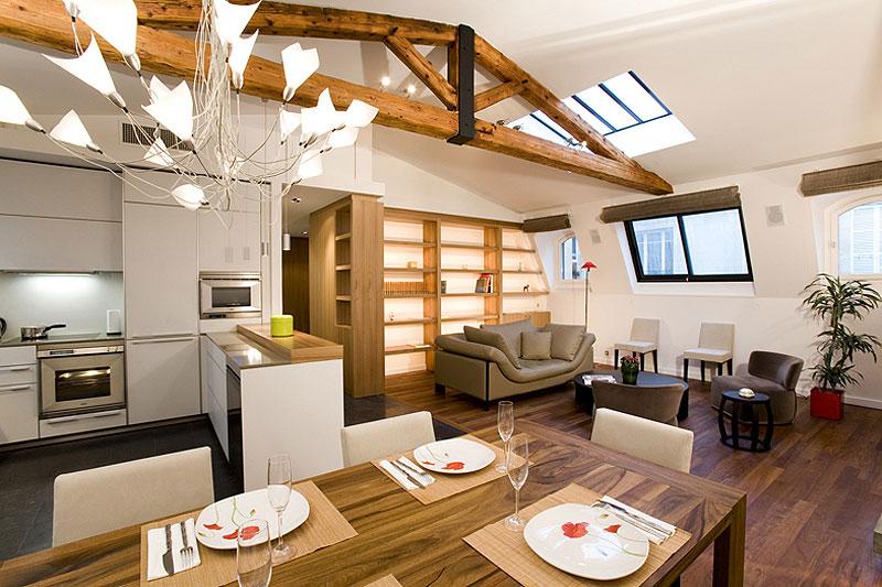 Il soggiorno con cucina a vista: 15 proposte da cui trarre ...