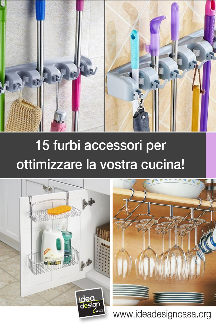 Accessori furbi per ottimizzare la cucina eccone 15 for Accessori pensili cucina