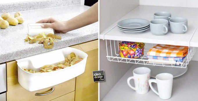 Accessori furbi per ottimizzare la cucina eccone 15 for Accessori per cucina moderna