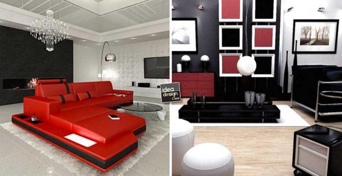 Soggiorno rosso e nero: 15 idee per arredare con personalità!