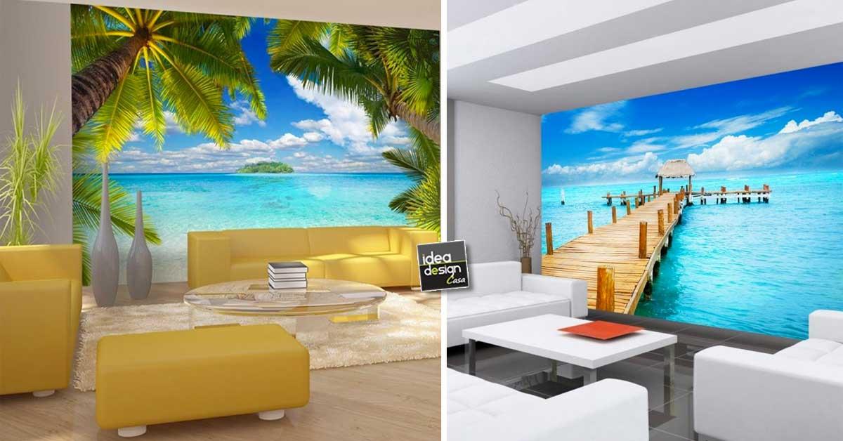 carta da parati mare e spiaggia ecco 20 idee per sognare
