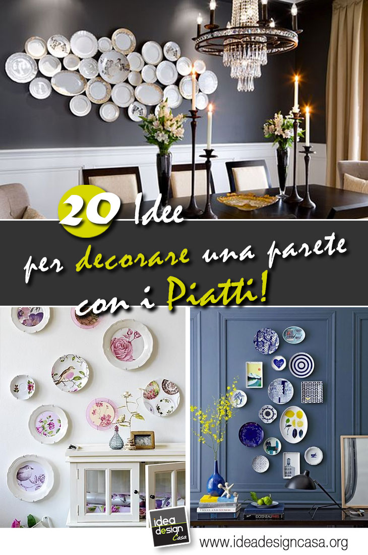 Come Decorare Una Parete decorare le pareti con i piatti! 20 idee originali per